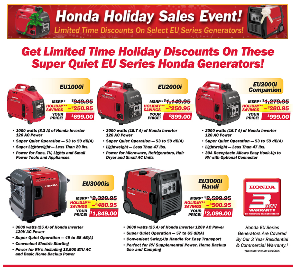 honda hliday sales event offer home page